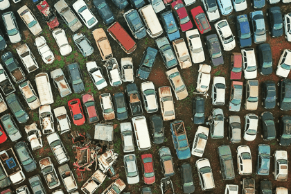 Carspares yard viewed from above